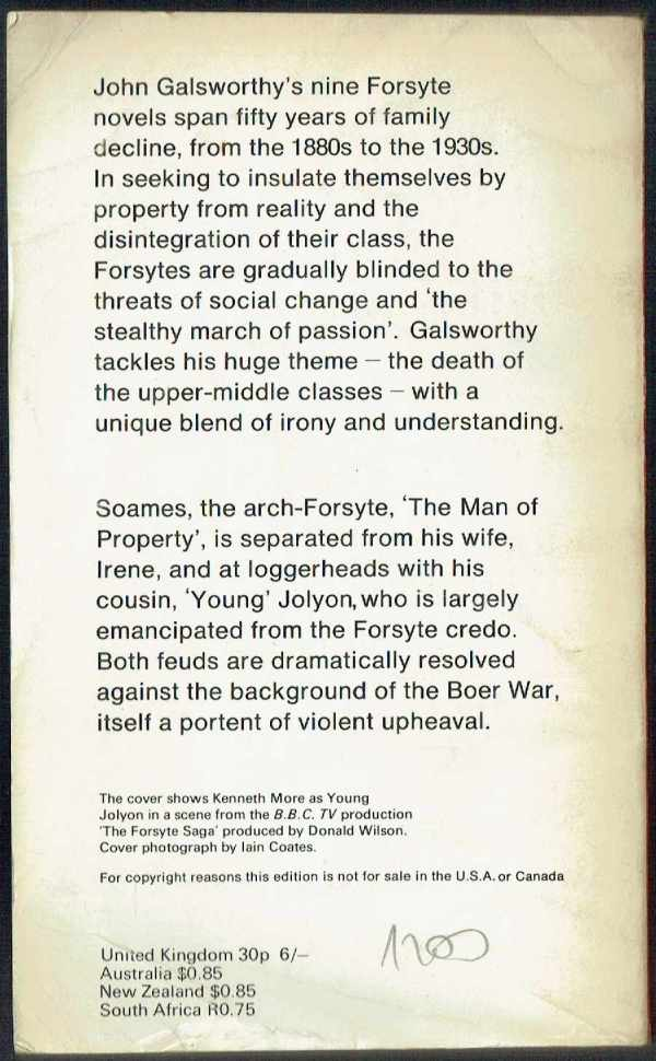 In Chancery - The Forsyte Saga 2. John Galsworthy  A Forsyte saga