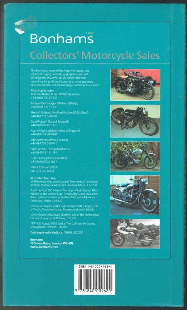 Miller's Classic Motorcycles - Yearbook and Price Guide 2005-2006  Mick Walker