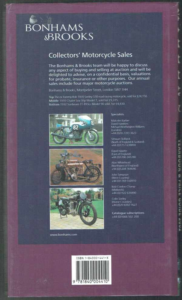 Miller's Classic Motorcycles - Yearbook and Price Guide 2002  Mick Walker