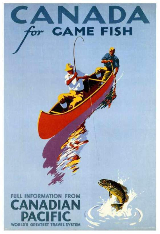 Canada For Game Fish (1939) - Illustration by Thomas Hall
